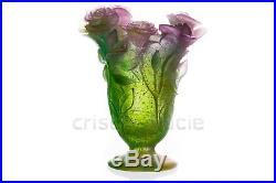 Vase Roses en Daum. Vase Roses by Daum