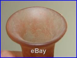 Vase ancien pate de verre Legras H21 cm D10cm (old vase flower molten glass)