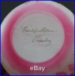 Vase cristallerie de pantin (devez daum galle)
