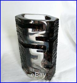 Vase en cristal de CÉSAR BALDACCINI modèle Argos DAUM FRANCE des années 70