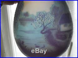 Vase en pate de verre signé gallé