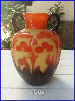 Vase en verre Schneider
