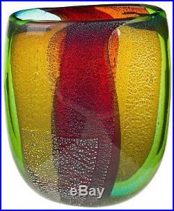 Vase en verre murano style antique murano 30cm