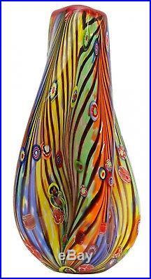 Vase en verre murano style antique murano 35cm