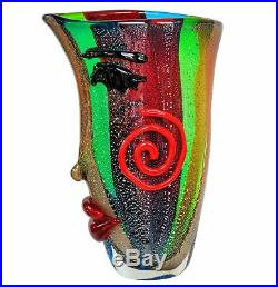 Vase en verre visage murano style antique murano 38cm