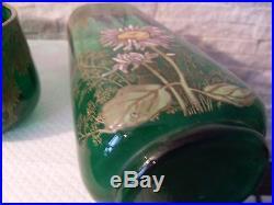 Vase émaillé, garniture émaillée, ensemble émaillée, jardinière emaillée