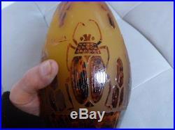 Vase pate de verre signé Charder