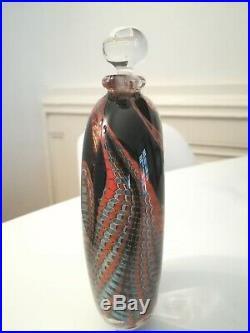 Vase signé Eric Laurent verrerie d'Allex daté 1989