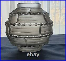 Vase signé Hunebelle modèle Arlequin