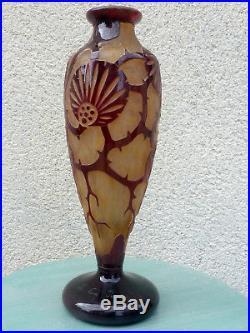 Vase signé le verre français 1925