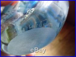 Vase verre soufflé signé LE LONQUER 1985