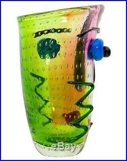 Vase visage en verre murano style antique 30cm