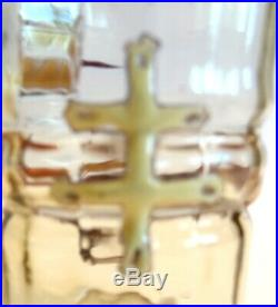 Verre A Liqueur Emaille Signe Galle Modele Croix De Lorraine Art Nouveau 1880